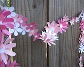 Cottage Tea Party Pink Daisy Chain - Engagement Party Decor - Tea party Decor- Charning Party Decor -Bridal Shower Decor - Garden Party