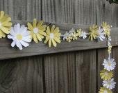 Paper Daisy Chain, Wedding Garland, Floral Wedding Garland, Wedding Flowers, Tea Party Decor, Garden Party Decor, Paper Flowers