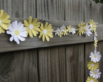 Paper Daisy Chain, Wedding Garland, Floral Wedding Garland, Wedding Flowers, Tea Party Decor, Garden Party Decor, Paper Flowers
