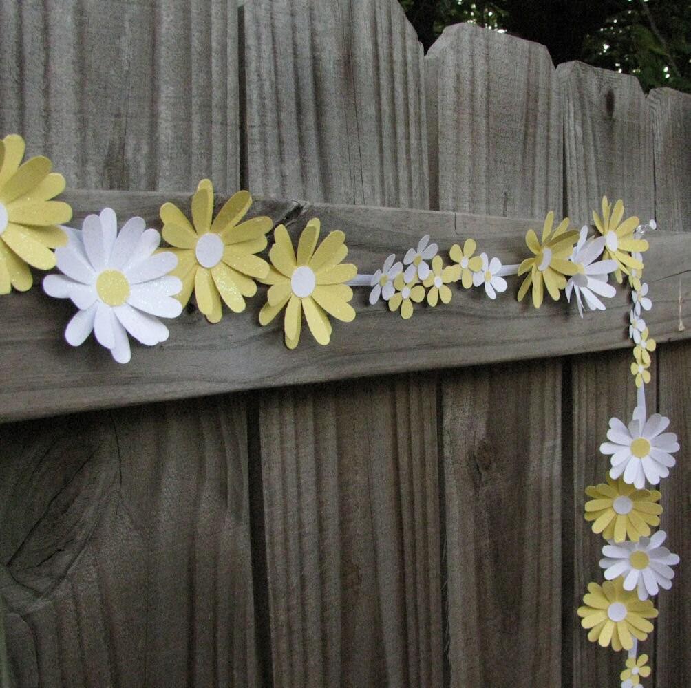 paper daisy chain wedding garland floral wedding garland