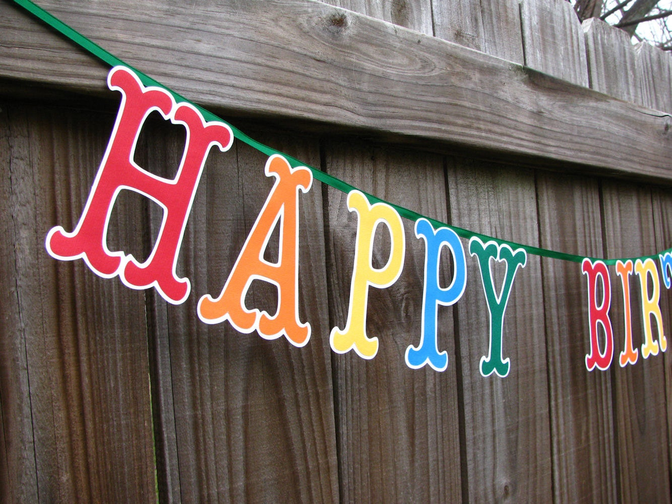 happy birthday banner large letters birthday banner colorful
