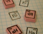 Chemistry Periodic Table of Elements Hand Carved Stamp