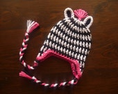 Baby Girl Zebra Hat