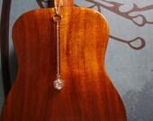 Silver Bead Cage Necklace