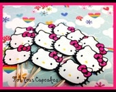 12 Hello Kitty Cupcake topper  picks