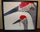 Mosaic, Sandhill Cranes