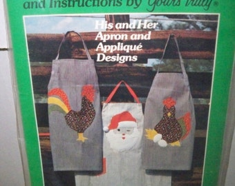 Vintage His and Hers Apron and Applique Pattern