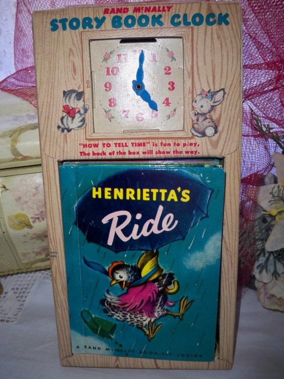 Books - Vintage Rand McNally's Story Book Clock