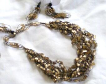 Golden Rewards Ladder Yarn Necklace