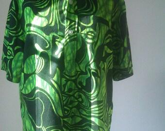 70's Tribal Print Shirt by Fumi's of Waikiki