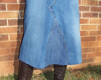 Jean Skirt, Knee Length, Fall Fashion