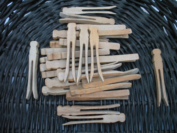 Very Vintage Wooden Clothespins Vase Filler Collection