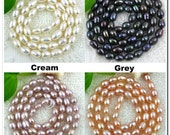 1 Oval Freshwater Pearls Loose Beads 4x5mm mix any colors (You Choose)