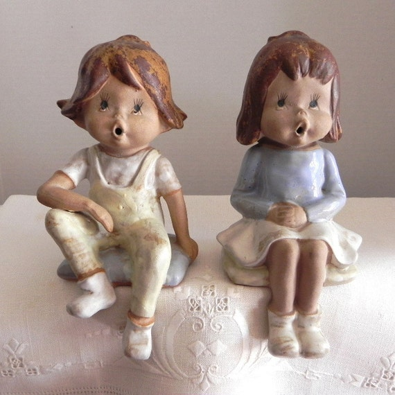 RESERVED FOR CLAUDIA Seymour Mann Stoneling Children by Eda - shelf sitting figurines