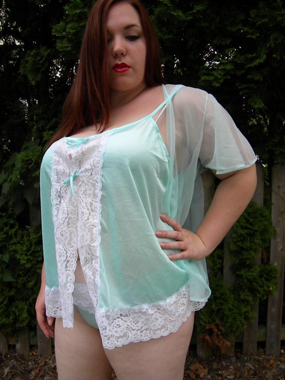Plus Size Vintage Lingerie This lingerie set is sure to