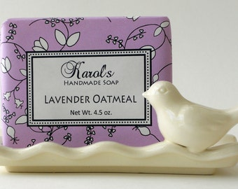 Soap - Handmade Soap - LAVENDER OATMEAL Soap - All Natural - Essential Oil Soap, Vegan