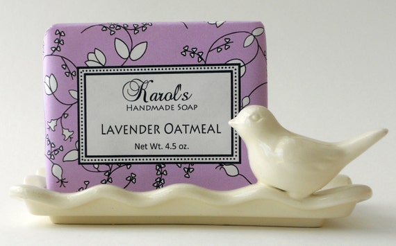 Soap - Handmade Soap - LAVENDER OATMEAL Soap - All Natural - Essential Oil Soap, Vegan