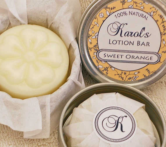 Solid Lotion Bar - Sweet Orange Essential oil - Best Seller