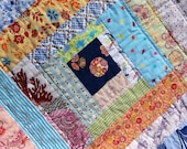 """LaNina Nr. 35 """" Flower Labyrinth"""" - colorful baby quilt"""