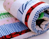 """RESERVED for AMBER LaNina Nr. 48 - """"Scandinavian Summer"""" - colorful baby quilt"""