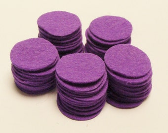 Wool Felt Blend Circles Cut Outs die cut precut you Choose Size and Felt Color