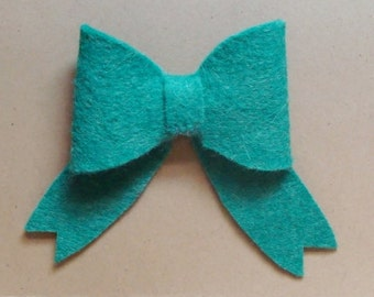 Bows Wool Felt Blend Die Cut- Set of (6)-U Choose Colors