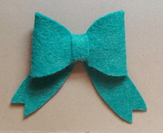 Bows Wool Felt Blend Die Cut- Set of (6)-U Choose Colors
