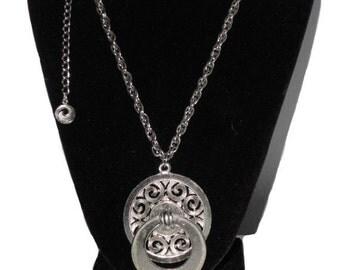 Lisner Vintage Silver Tone Finish Necklace - Treasury Item