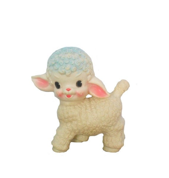Vintage Squeaky Toy 1950's Little Lamb by Sun Rubber Co. - Treasury Item