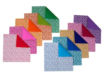 Double Sided Origami Paper - Plain, Flowery Patterns I - 20 Sheets