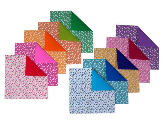 double sided origami paper plain flowery patterns i 20