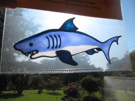 shark Suncatcher window sticker/decal stained glass style Sunshiner