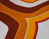 60's orange retro fabric