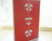 Ruby Anniversary Heart Card