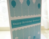Personalised Brother Birthday Balloons Card