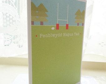 Personalised Penblwydd Hapus Tad Card