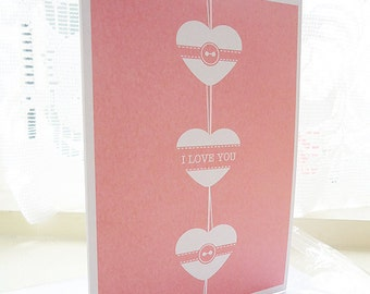 Love You Hanging Heart Card