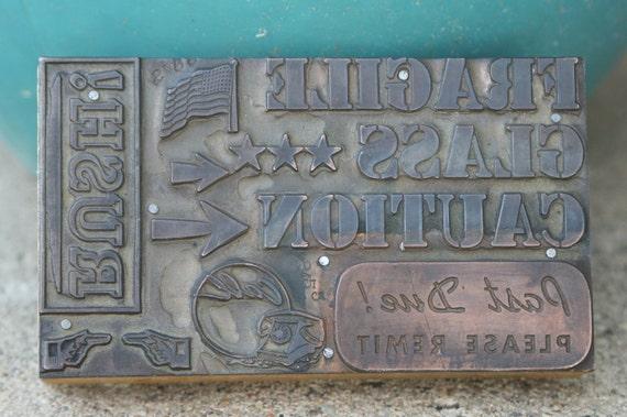 Vintage Letterpress Wood Block Print Block Stamp