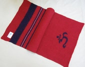 Yoga Mat Runner - Red Om