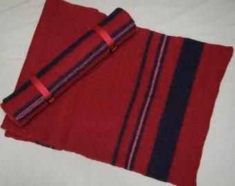 Red Striped Yoga Mat Runner