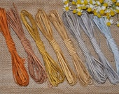 3 mm Viscose Rayon Soutache Braid - PRECIOUS METALS COLORS - 2.5 meters long - choose your colors