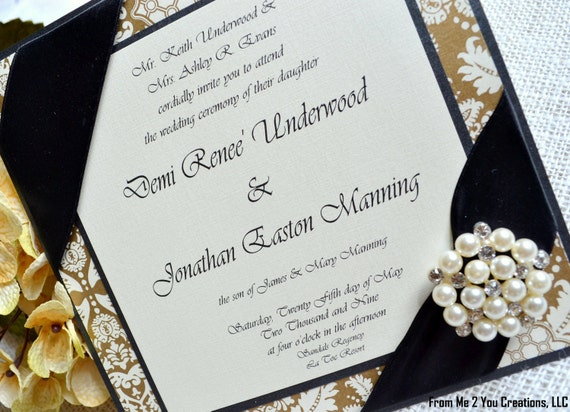 Black Champagne And Gold Wedding Black And Gold/champagne