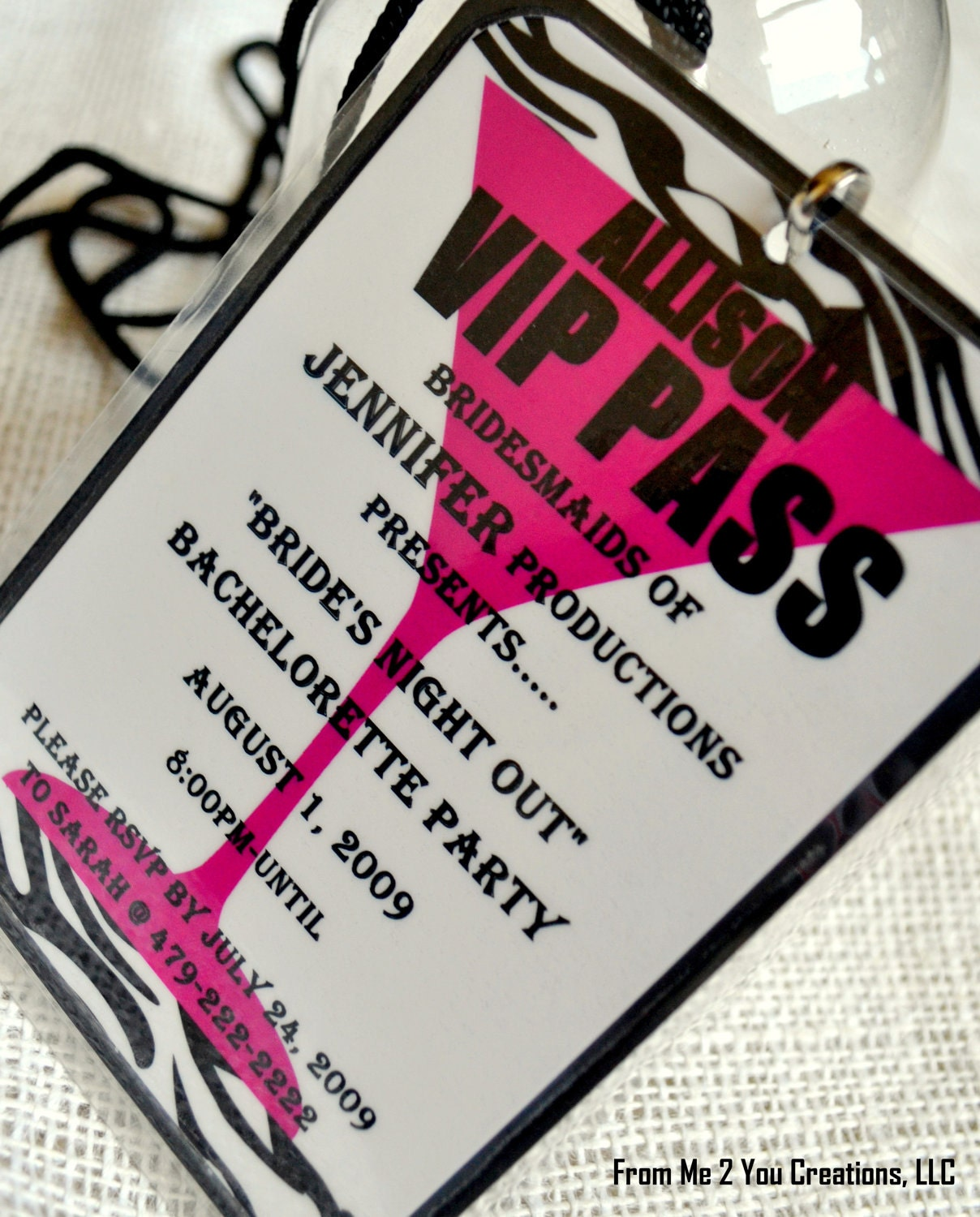 Vip Pass Bachelorette Party Per...