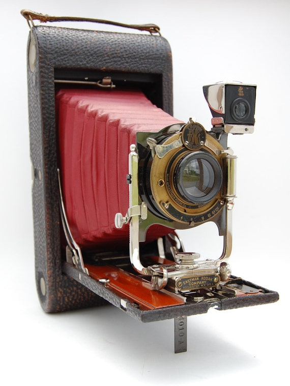 1909 Kodak No. 3A Model B4 Folding Pocket Camera WITH MANUAL and CASE - Free Shipping