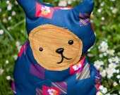 SALE - Penny -  Whimsy Stuffed Cat made from vintage polyester