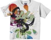 Girls Butterfly Shirt - Personalized Butterfly Splash Top