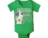 Personalized Irish Bodysuit, Custom First St. Patricks Day, Lucky Charm Baby Clothing