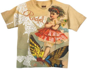 Girls Fairy Shirt, Personalized T-shirt, Children's Clothing, Top