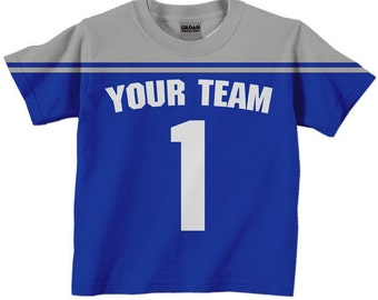 Football Jersey Shirt - Boy's Personalized Football T-Shirt, Any Team Colors, Sport Birthday Shirt