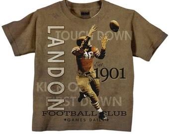 Boys Football Shirt, Personalized Name, Birthday TShirt, Top